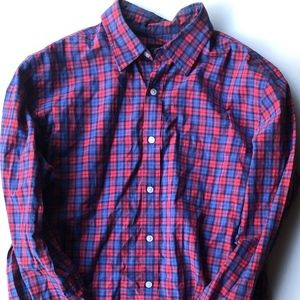 Jcrew Red and Blue Patterend Dress Shirt